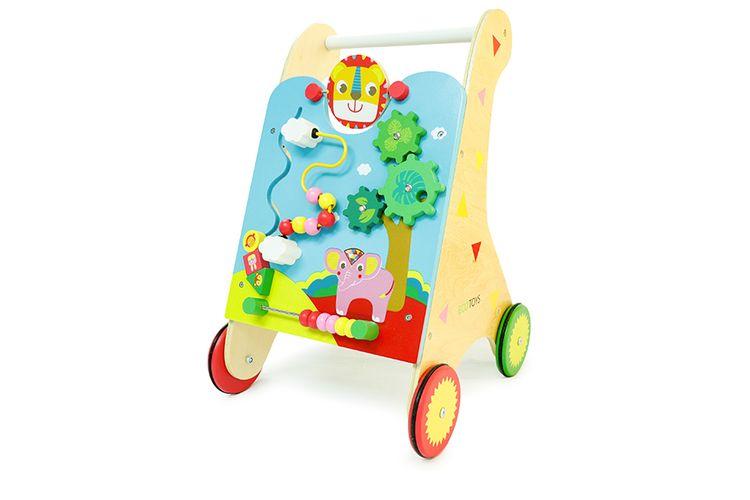 Korting Houten loopwagen met meerdere spellen van ECOTOYS