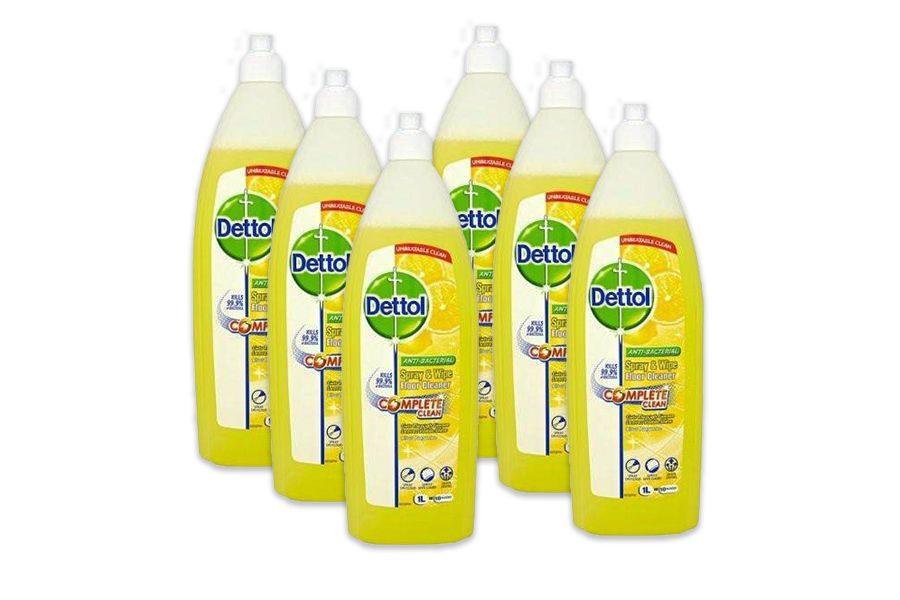 6 flessen vloer- en allesreiniger van Dettol