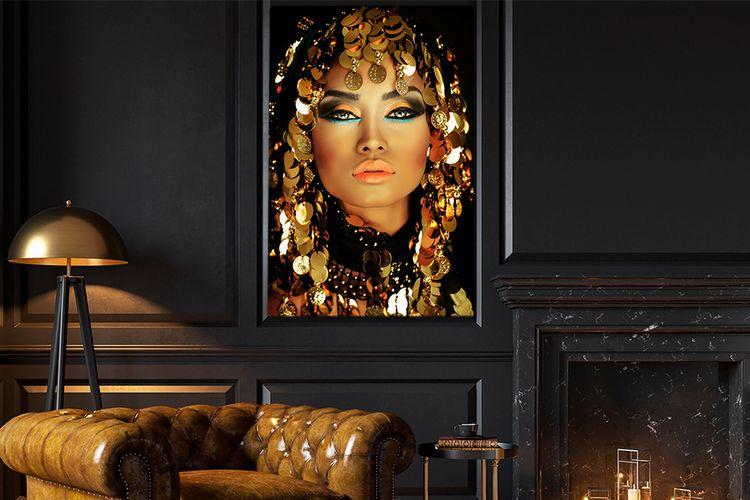 Exclusief vrouwenportret op canvas (31 varianten)