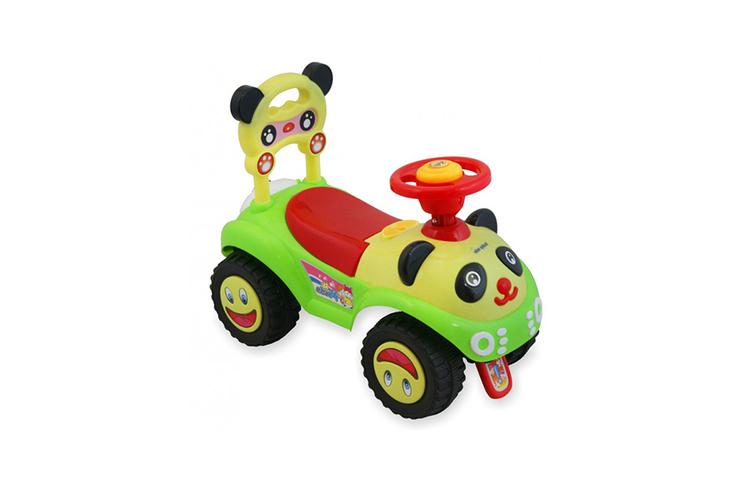Loopauto met pandamotief