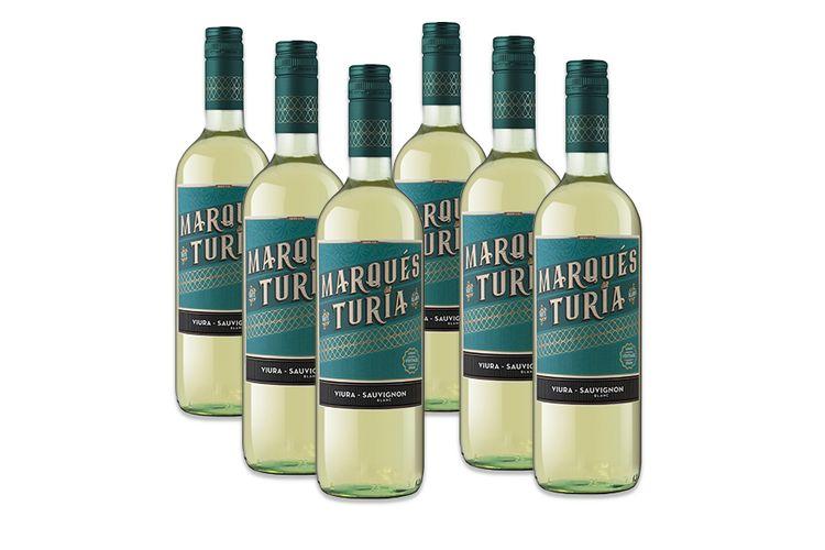 6 flessen Marques del Turia Blanco Sauvignon Blanc