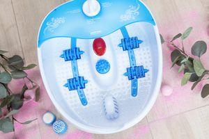 Voetenbad met bubbelmassage en infrarood
