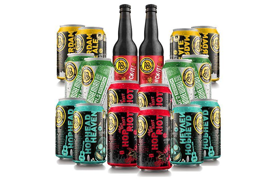Verrassingspakket met 18 biertjes van Brewboys