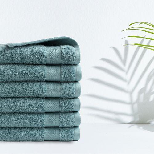 6 denimblauwe handdoeken