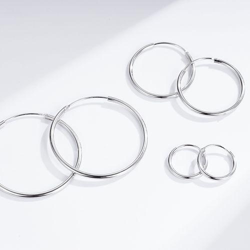3 paar sterling zilveren oorringen van Ezalya