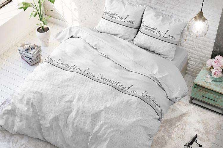 Katoenen dekbedovertrek Goodnight (200 x 220 cm)