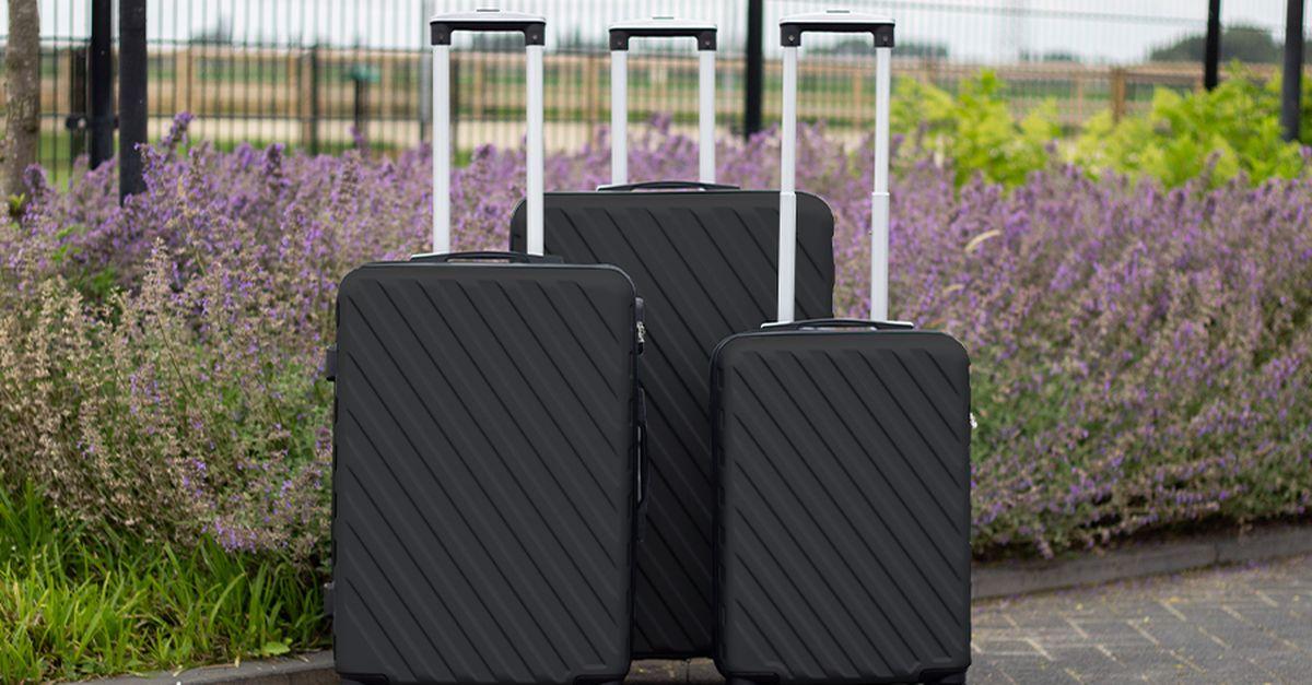 Lot de 3 valises noires