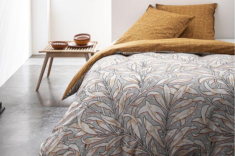 Katoenen dekbedovertrek Bladeren (240 x 220 cm)
