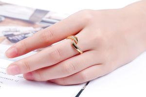 Multimaat-ring met zirkonia's van Di Lusso