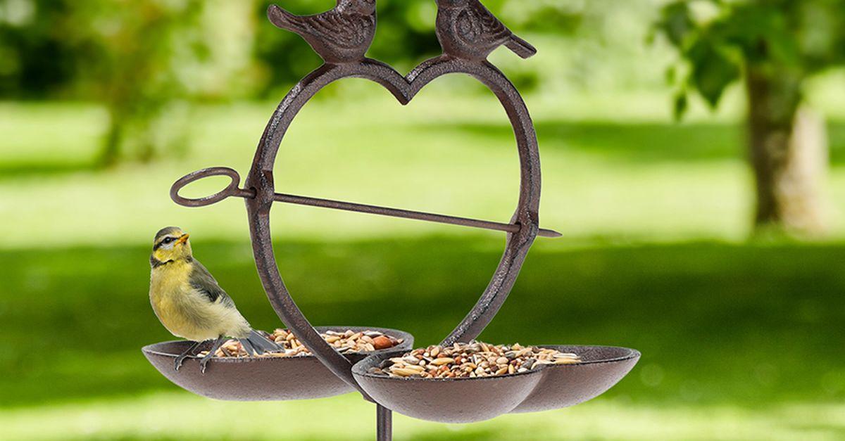 Mangeoire à oiseaux en forme de cur