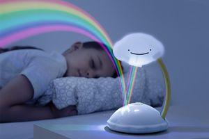 Nachtlampje met regenboogprojector