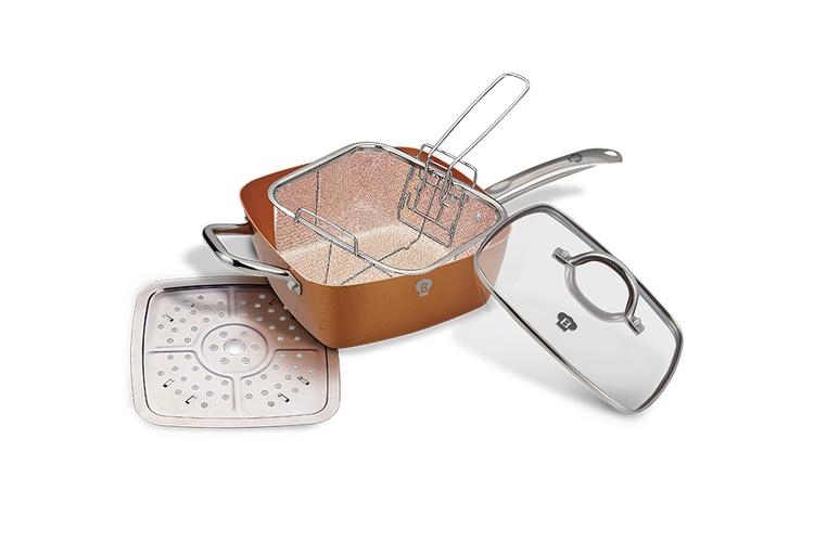 Stomen, frituren �n koken met deze pan van Blaumann