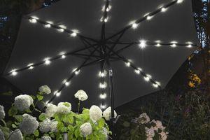 Parasol noir avec éclairage LED Lifa Garden