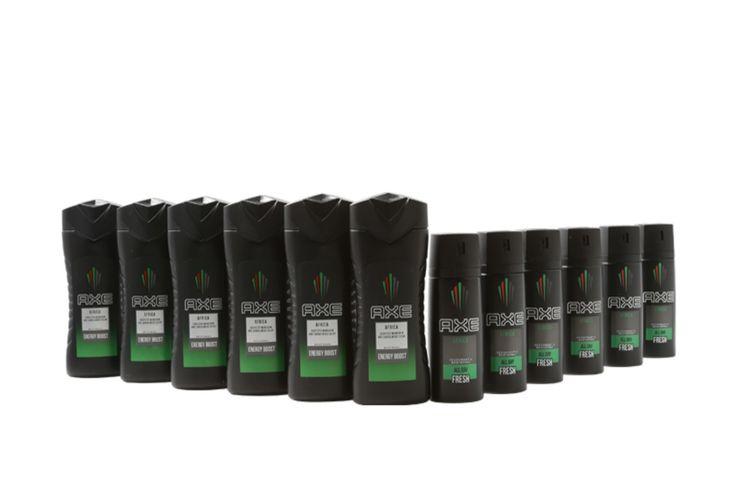 AXE Africa-pakket: 6 flessen douchegel en 6 deosprays