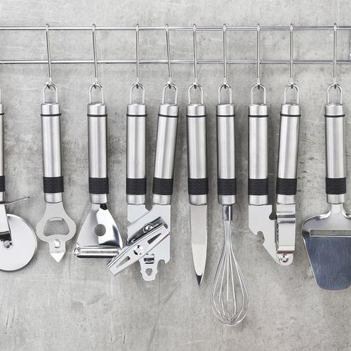 9-delige set keukengereien met wandrek