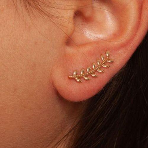 Goudkleurige oorbellen