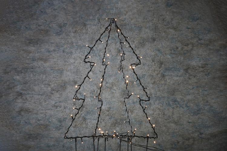 Dubbele LED tuinsteker (model: kerstboom)
