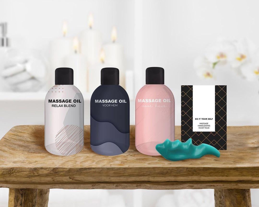 Massagepakket met 3 oliën voor een thuismassage