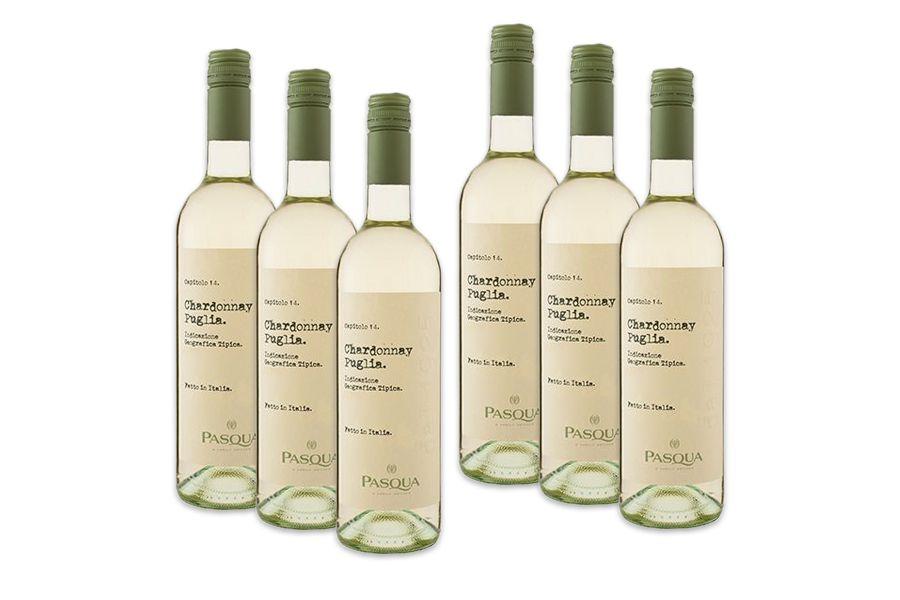 6 flessen Pasqua Le Collezioni Chardonnay (750 ml)