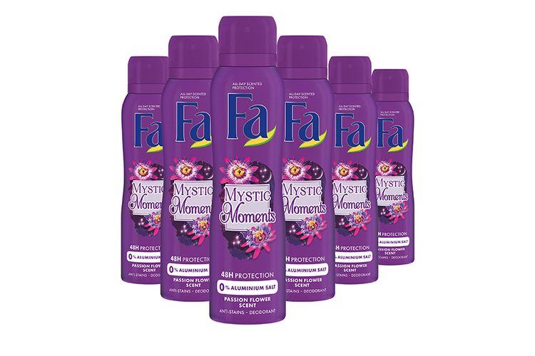 6 flessen deodorant van Fa (150 ml)