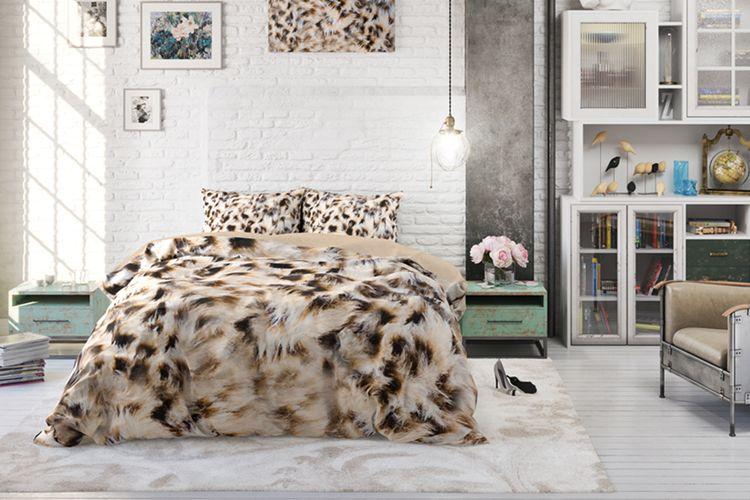 Katoenen dekbedovertrek Cheetah skin (200 x 200 cm)
