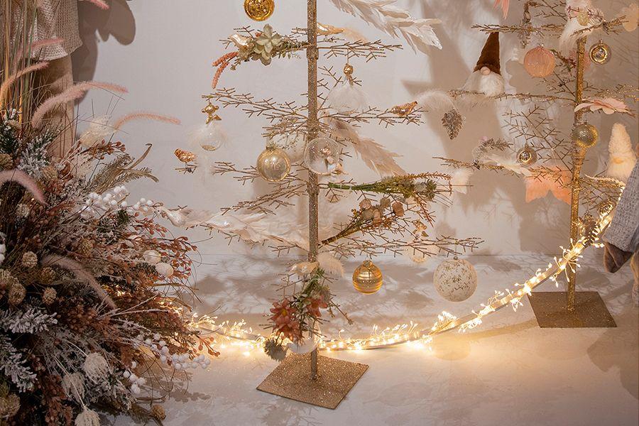 Champagnekleurige decoratieboom (120 cm)