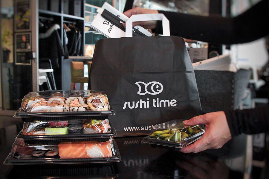 40% korting op afhalen bij Sushi Time (3 locaties)