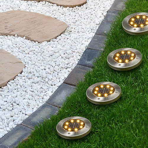 4 led-grondlampen