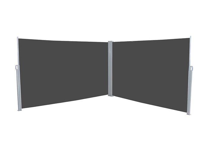 pare vent double noir double pare vent noir r tractable pour votre jardin vavabid. Black Bedroom Furniture Sets. Home Design Ideas