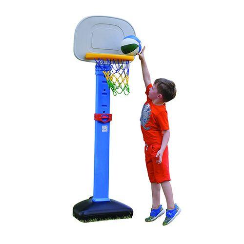 In hoogte verstelbare basketbalset (inclusief bal)