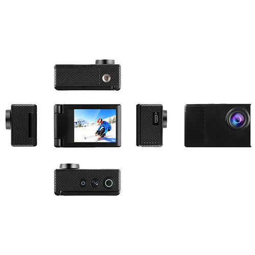 Vlogcamera met statief en selfiestick