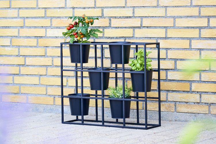 Plantenbakhouder met 6 plantenbakken (hoogte: 52 cm)