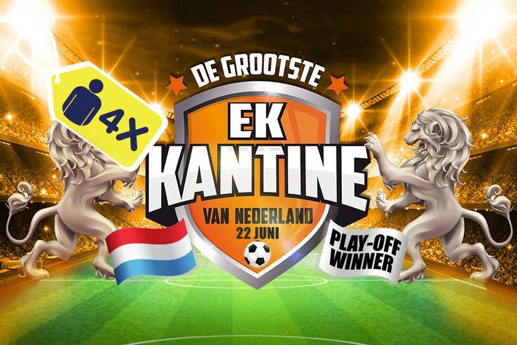 Korting EK laatste poule wedstrijd met Wolter Kroes, Ahoy (4p.) Rotterdam