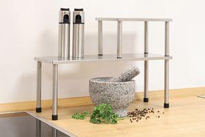 Zilverkleurig keukenrek
