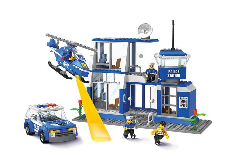 Politiebureau van Blocki-bouwstenen