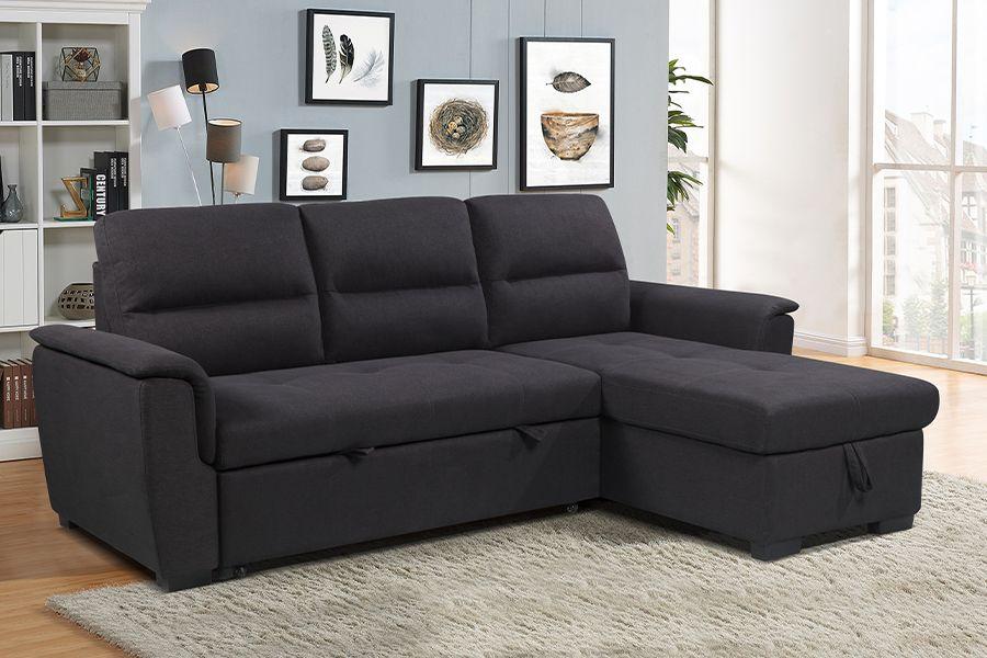 3-zitsslaapbank met chaise lounge en opbergruimte