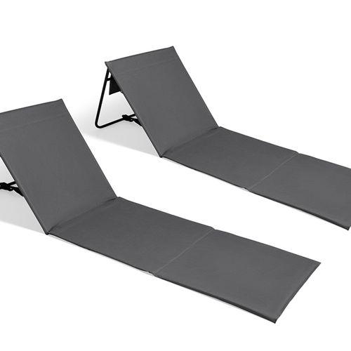 2 opvouwbare ligstoelen