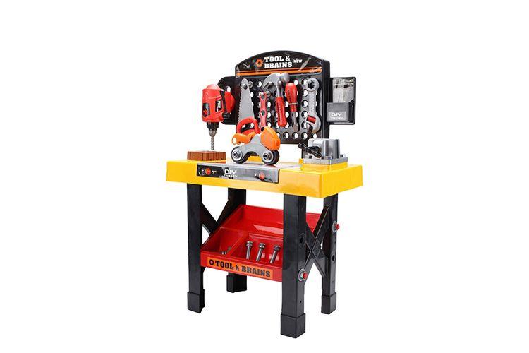 Speelgoedwerkbank met gereedschap