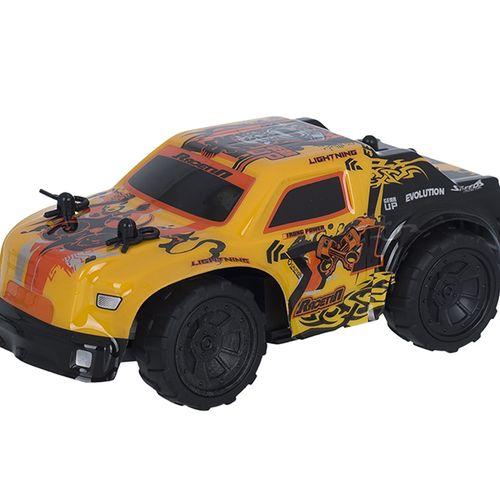 Gele bestuurbare raceauto