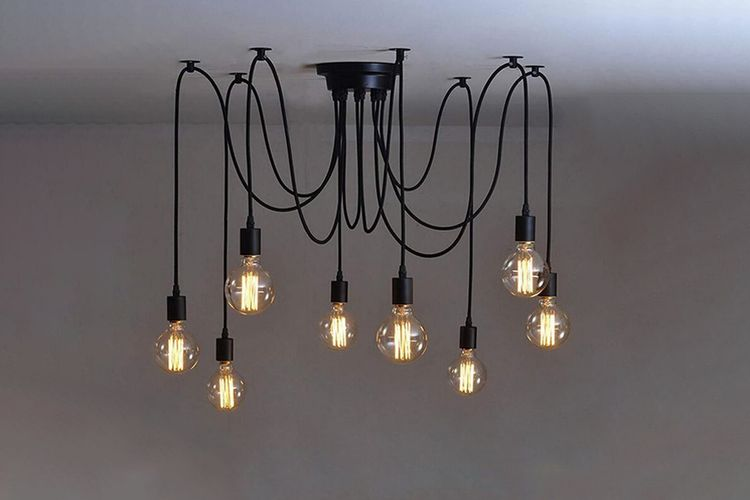 Korting Plafondlamp met 8 snoeren