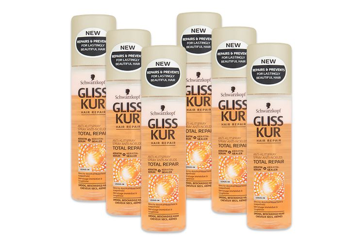 Gliss Kur Total Repair anti-klit spray (6 stuks)