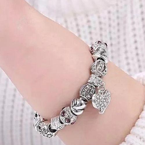 Korting Armband met bedel en kralen