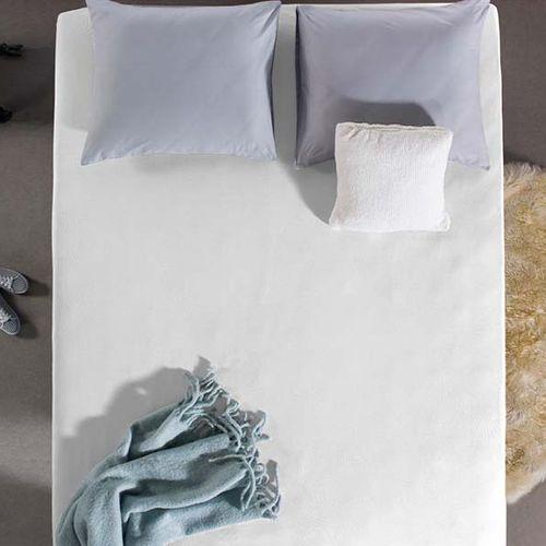 4 witte hoeslakens (jersey)