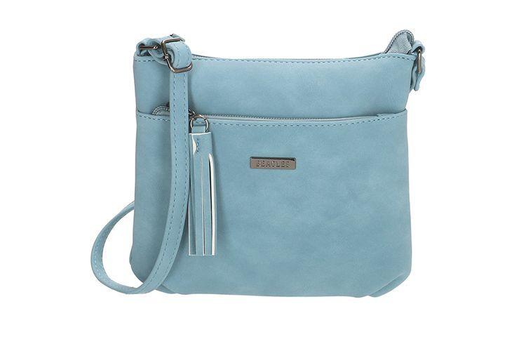 Staalblauwe schoudertas (model: La Costera)