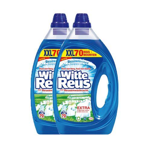 2 flessen wasmiddel van Witte Reus