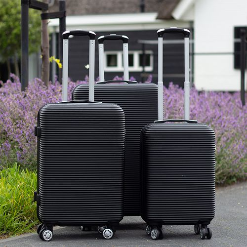 3-delige zwarte kofferset