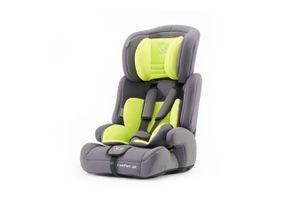 2-in-1 autostoel van Kinderkraft grey/lime (tot 36 kg)