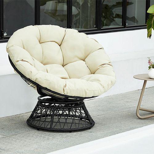 Draaibare loungestoel met kussen van Feel Home