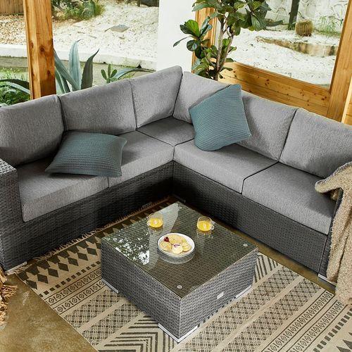 Aluminium loungeset met salontafel van Feel Home