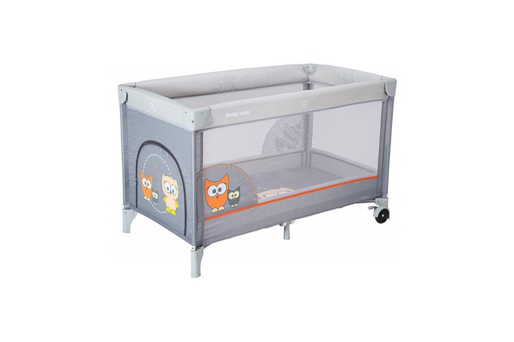 Babybedje Voor Buiten.Baby Bed Lichtgrijs Babybedje Met Vogels 120 X 60 Cm